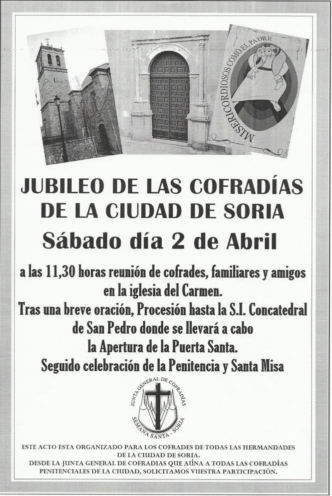 JUBILEO DE LAS COFRADIAS DE LA CIUDAD DE SORIA